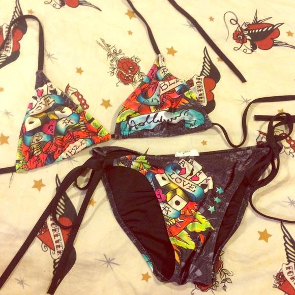 Ed hardy string bikini